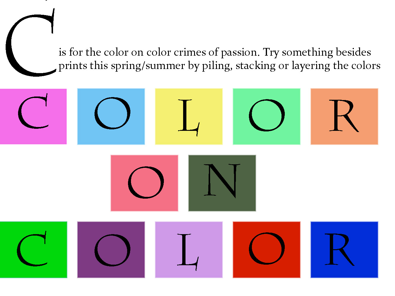 c is for color