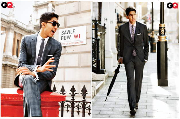 Dev Patel on savill Row