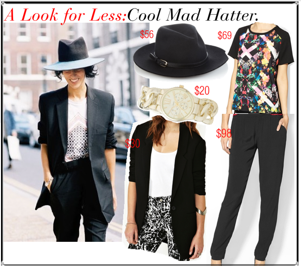 look for less chic mad hatter