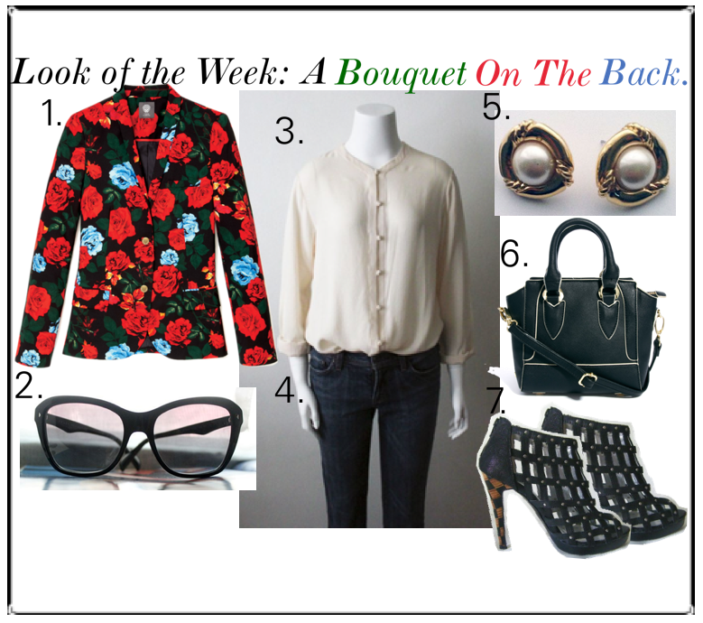 look of the week a bouquet on the back