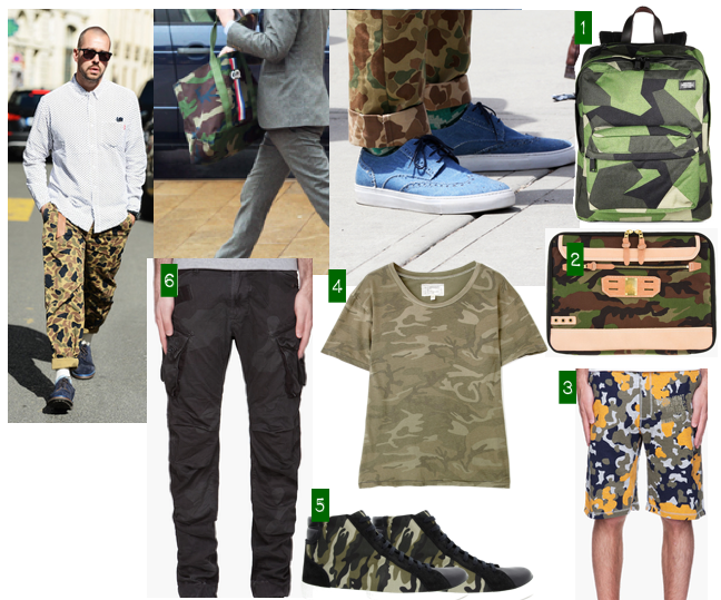 men style camouflage