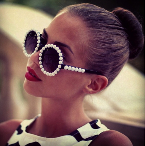put a pearl on it  sunglasses