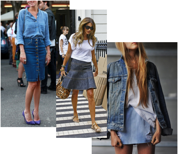 rstyle denim skirt love