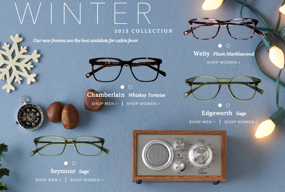 warby parker winter collection 2